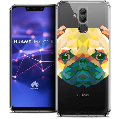 "Carcasa Crystal Gel Extra Fina Huawei Mate 20 Lite (6.3"") Polygon Animals Perro"