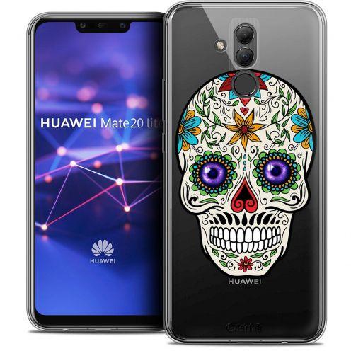 "Carcasa Crystal Gel Extra Fina Huawei Mate 20 Lite (6.3"") Skull Maria's Flower"