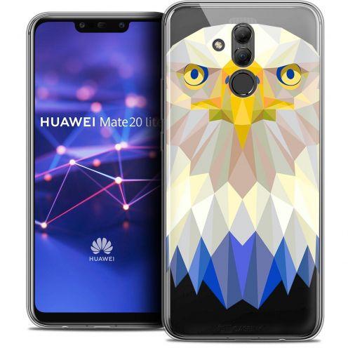 "Carcasa Crystal Gel Extra Fina Huawei Mate 20 Lite (6.3"") Polygon Animals Águila"