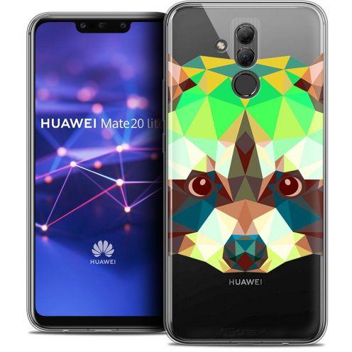 "Carcasa Crystal Gel Extra Fina Huawei Mate 20 Lite (6.3"") Polygon Animals Raton Laveur"