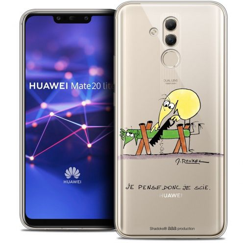 """Coque Gel Huawei Mate 20 Lite (6.3"""") Extra Fine Les Shadoks® - Je pense Donc"""