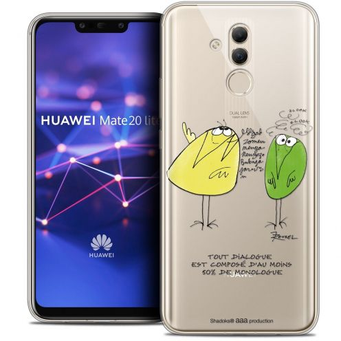 """Coque Gel Huawei Mate 20 Lite (6.3"""") Extra Fine Les Shadoks® - Le Dialogue"""