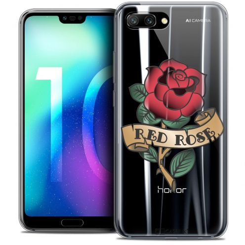 """Coque Crystal Gel Huawei Honor 10 (5.8"""") Extra Fine Tatoo Lover - Red Rose"""