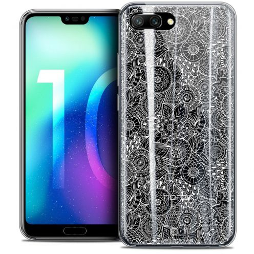 """Coque Crystal Gel Huawei Honor 10 (5.8"""") Extra Fine Dentelle Florale - Blanc"""
