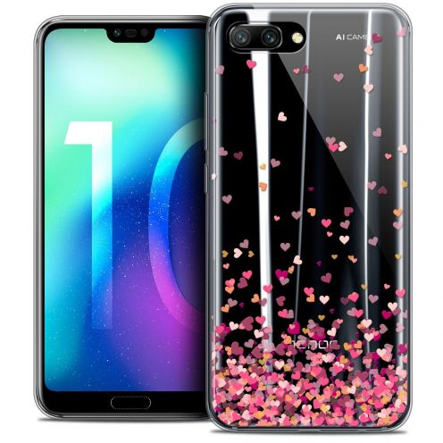 "Coque Crystal Gel Huawei Honor 10 (5.8"") Extra Fine Sweetie - Heart Flakes"