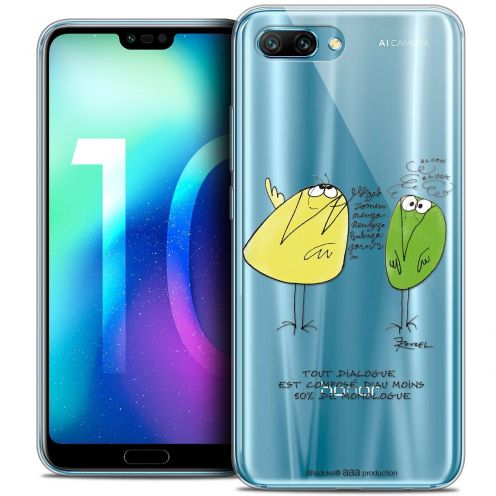 """Coque Gel Huawei Honor 10 (5.8"""") Extra Fine Les Shadoks® - Le Dialogue"""