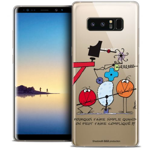 """Carcasa Crystal Gel Extra Fina Samsung Galaxy Note 8 (6.3"""") Les Shadoks® Pourquoi faire Simple"""