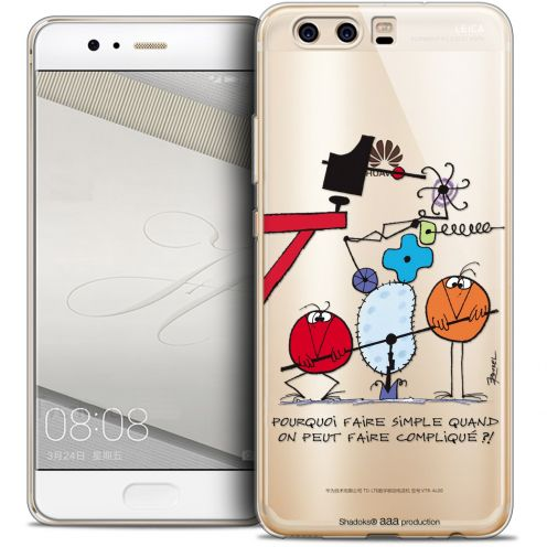 Carcasa Crystal Gel Extra Fina Huawei P10 Les Shadoks® Pourquoi faire Simple