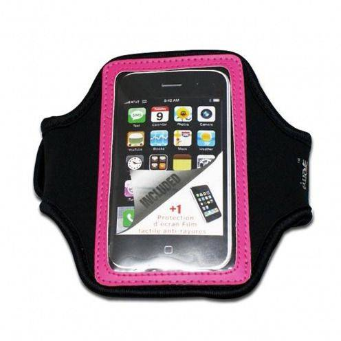 Brazalete deportivo neopreno iPhone 3GS / iPhone 4 / 4s / Touch rosa