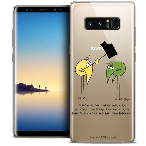 "Carcasa Crystal Gel Extra Fina Samsung Galaxy Note 8 (6.3"") Les Shadoks® A Force"