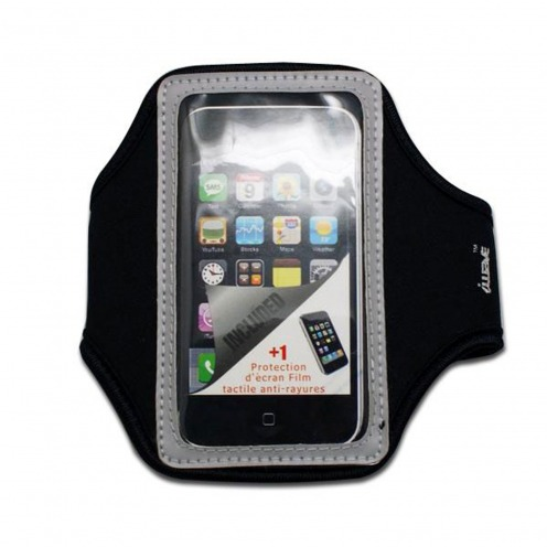 Brazalete deportivo neopreno iPhone 3GS / iPhone 4 / 4s / Touch gris