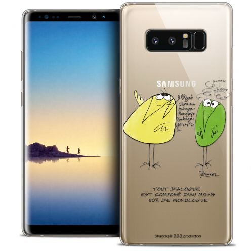 "Carcasa Crystal Gel Extra Fina Samsung Galaxy Note 8 (6.3"") Les Shadoks® Le Dialogue"