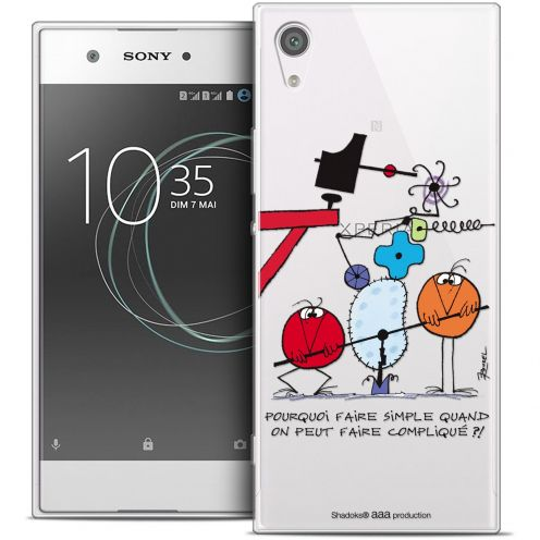 "Carcasa Crystal Rigide Extra Fina Sony Xperia XA1 (5"") Les Shadoks® Pourquoi faire Simple"