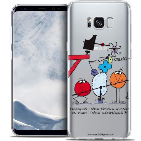 Carcasa Crystal Gel Extra Fina Samsung Galaxy S8 (G950) Les Shadoks® Pourquoi faire Simple