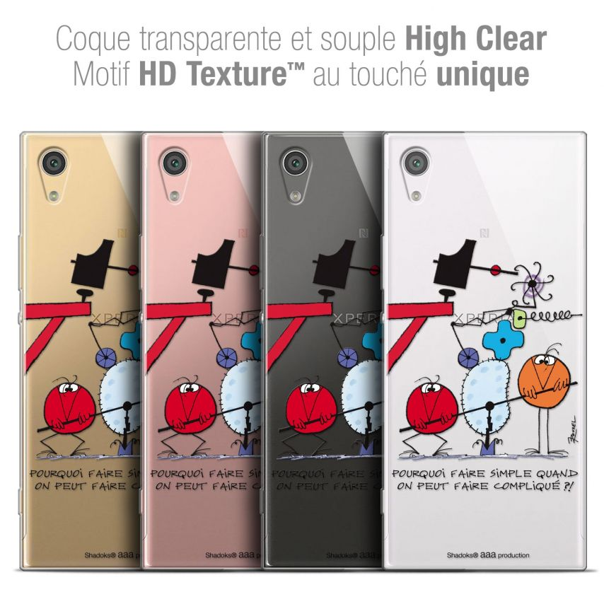 "Carcasa Crystal Gel Extra Fina Sony Xperia XA1 Ultra (6"") Les Shadoks® Pourquoi faire Simple"