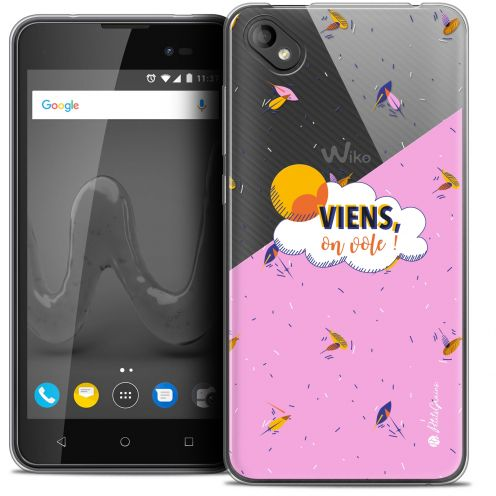 "Carcasa Crystal Gel Extra Fina Wiko Sunny 2 PLUS (5"") Petits Grains® VIENS, On Vole !"