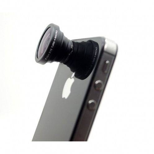 Objetivo Ojo de Pez 180º Macro Foto / Vídeo iPhone 5/S/C/ iPhone 4 / 4S / 3G