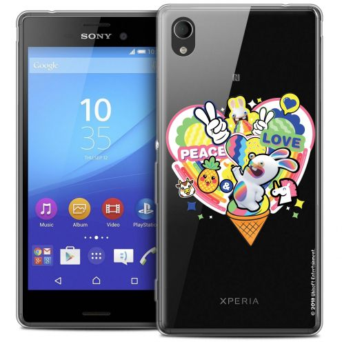 Carcasa Crystal Sony Xperia M4 Aqua Lapins Crétins™ Peace And Love
