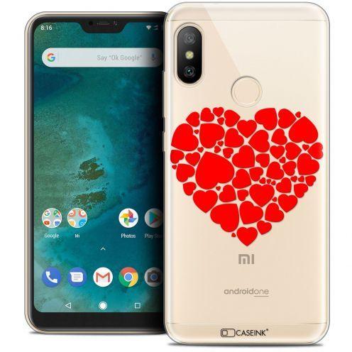 "Carcasa Crystal Gel Extra Fina Xiaomi Mi A2 LITE (5.8"") Love Coeur des Coeurs"