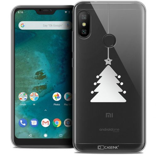 "Carcasa Crystal Gel Extra Fina Xiaomi Mi A2 LITE (5.8"") Noël 2017 Petit Arbre"