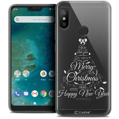 "Carcasa Crystal Gel Extra Fina Xiaomi Mi A2 LITE (5.8"") Noël 2017 Calligraphie"