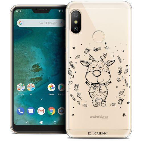 "Carcasa Crystal Gel Extra Fina Xiaomi Mi A2 LITE (5.8"") Noël 2017 Sketchy Cerf"