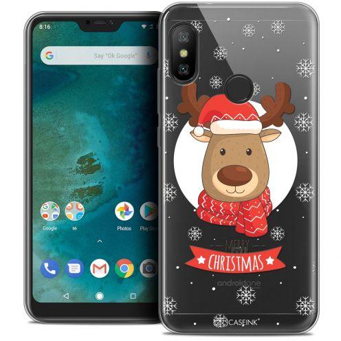 """Carcasa Crystal Gel Extra Fina Xiaomi Mi A2 LITE (5.8"""") Noël 2017 Cerf à Echarpe"""