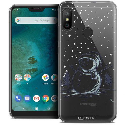 "Carcasa Crystal Gel Extra Fina Xiaomi Mi A2 LITE (5.8"") Noël 2017 Bonhomme de Neige"