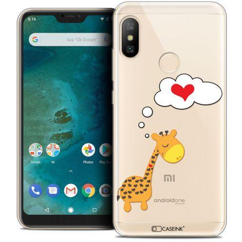 "Carcasa Crystal Gel Extra Fina Xiaomi Mi A2 LITE (5.8"") Love Girafe Amoureuse"