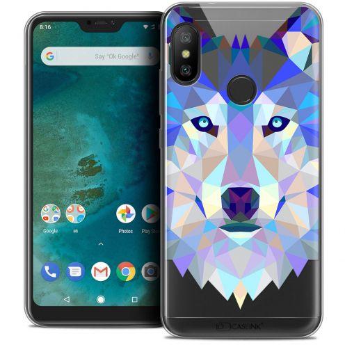 "Carcasa Crystal Gel Extra Fina Xiaomi Mi A2 LITE (5.8"") Polygon Animals Lobo"