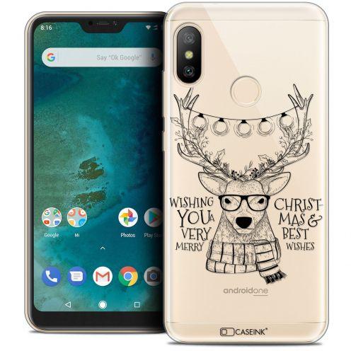 "Carcasa Crystal Gel Extra Fina Xiaomi Mi A2 LITE (5.8"") Noël 2017 Cerf Hipster"