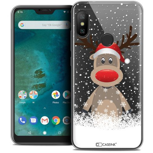 "Carcasa Crystal Gel Extra Fina Xiaomi Mi A2 LITE (5.8"") Noël 2017 Cerf au Bonnet"