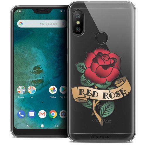 "Carcasa Crystal Gel Extra Fina Xiaomi Mi A2 LITE (5.8"") Tatoo Lover Red Rose"