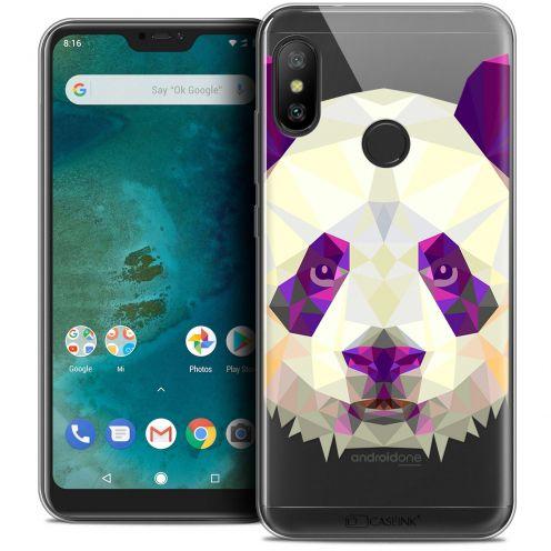 "Carcasa Crystal Gel Extra Fina Xiaomi Mi A2 LITE (5.8"") Polygon Animals Panda"