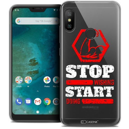 "Carcasa Crystal Gel Extra Fina Xiaomi Mi A2 LITE (5.8"") Quote Start Doing"