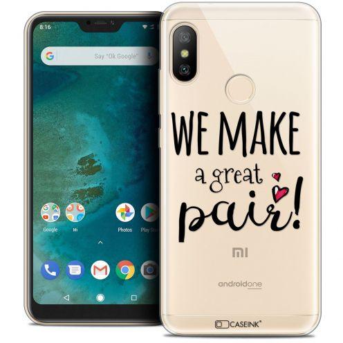 "Carcasa Crystal Gel Extra Fina Xiaomi Mi A2 LITE (5.8"") Love We Make Great Pair"
