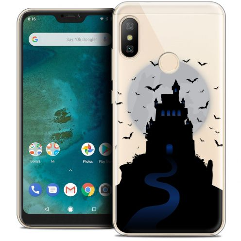 "Carcasa Crystal Gel Extra Fina Xiaomi Mi A2 LITE (5.8"") Halloween Castle Nightmare"