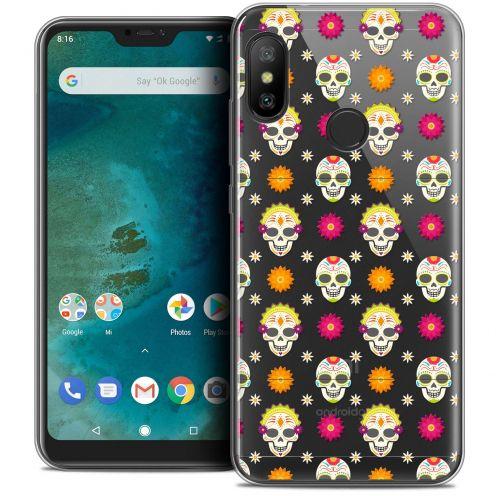 "Carcasa Crystal Gel Extra Fina Xiaomi Mi A2 LITE (5.8"") Halloween Skull Halloween"