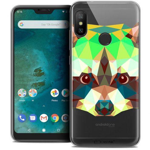 "Carcasa Crystal Gel Extra Fina Xiaomi Mi A2 LITE (5.8"") Polygon Animals Raton Laveur"