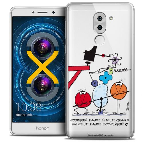 Carcasa Crystal Gel Extra Fina Huawei Honor 6X Les Shadoks® Pourquoi faire Simple