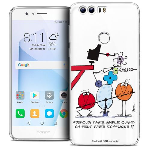 """Carcasa Crystal Gel Extra Fina Huawei Honor 8 (5.2"""") Les Shadoks® Pourquoi faire Simple"""