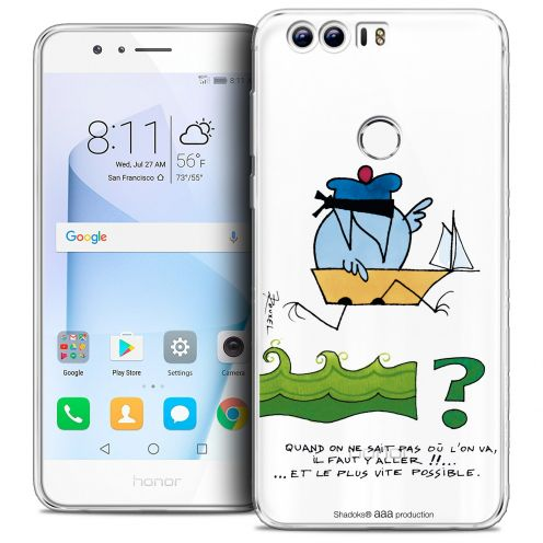 "Carcasa Crystal Gel Extra Fina Huawei Honor 8 (5.2"") Les Shadoks® Il Faut Y Aller !!"