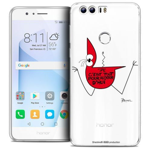 "Carcasa Crystal Gel Extra Fina Huawei Honor 8 (5.2"") Les Shadoks® C'est Tout"