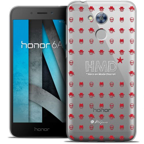 "Carcasa Crystal Gel Extra Fina Huawei Honor 6A (5"") Petits Grains® HMD* Hero en Mode Discret"