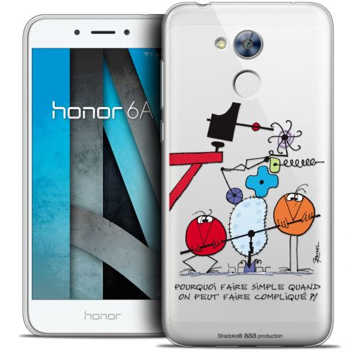 "Carcasa Crystal Gel Extra Fina Huawei Honor 6A (5"") Les Shadoks® Pourquoi faire Simple"