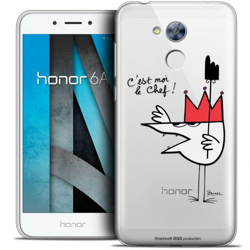 "Carcasa Crystal Gel Extra Fina Huawei Honor 6A (5"") Les Shadoks® Le Chef"