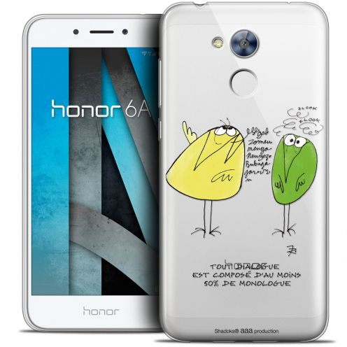 "Carcasa Crystal Gel Extra Fina Huawei Honor 6A (5"") Les Shadoks® Le Dialogue"