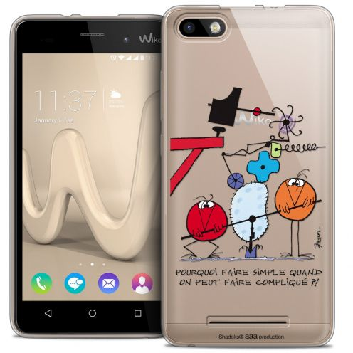 Carcasa Crystal Gel Extra Fina Wiko Lenny 3 Les Shadoks® Pourquoi faire Simple