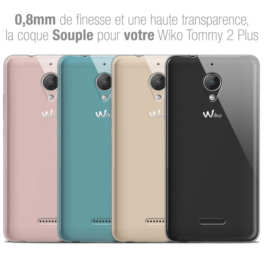 """Carcasa Extra Fina 1 mm Flexible Crystal Clear para Wiko Tommy 2 PLUS (5.5"""")"""