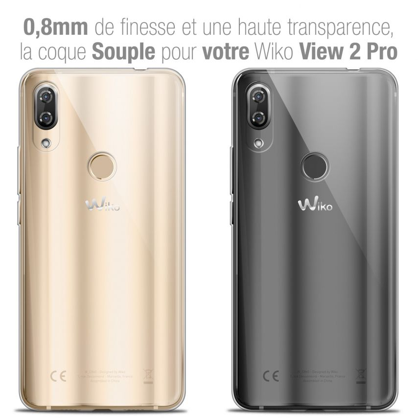 "Carcasa Extra Fina 1 mm Flexible Crystal Clear para Wiko View 2 PRO (6.0"")"